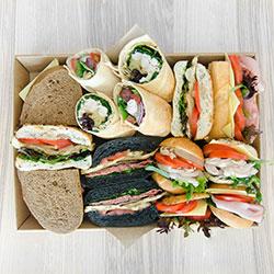 Mixed gourmet bread sandwiches thumbnail