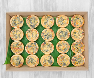 Assorted breakfast quiches thumbnail