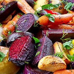 Roast seasonal vegetable salad thumbnail