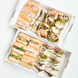 Combination of sandwiches, baguettes and wraps  thumbnail
