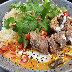 Masaman yellow curry and rice thumbnail