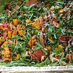 Pumpkin, rocket and walnut salad thumbnail