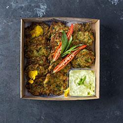 Zucchini fritters platter thumbnail