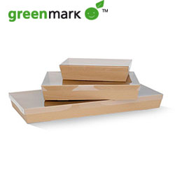 Brown catering tray - rectangular - 50 mm high thumbnail