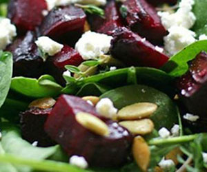 Baby spinach and feta salad thumbnail