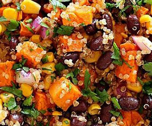 Kumera and black quinoa salad thumbnail