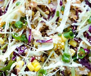 Sweet corn and coriander slaw thumbnail