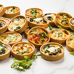 Vegetarian mini quiche platter thumbnail