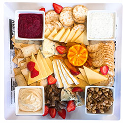 Cheese, dips and crackers platter thumbnail