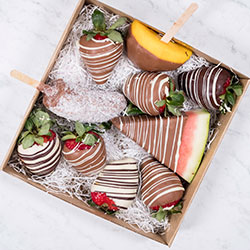 Chocolate dipped fruit platter thumbnail