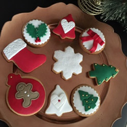 Hand decorated Christmas biscuits  thumbnail