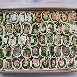 Tortilla wrap pinwheels - serves 8 to 10 thumbnail