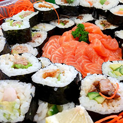 Large gourmet sushi and sashimi thumbnail
