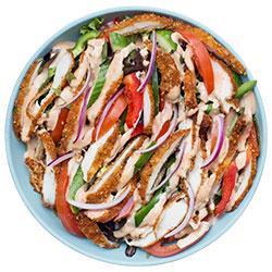 Chicken schnitzel salad thumbnail