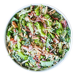 Shaved broccoli and bacon salad thumbnail