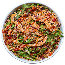 Sriracha chicken and brown rice salad thumbnail