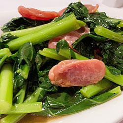 Stir fry Chinese sausage thumbnail