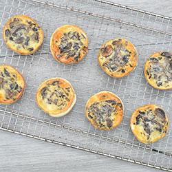 Vegetarian mini quiches thumbnail