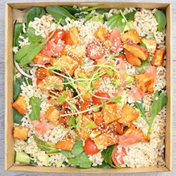 Teriyaki chicken and brown rice salad thumbnail