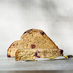 Raspberry and pear bread slice thumbnail