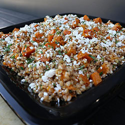 Farro and roasted vegetable salad thumbnail