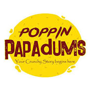 Poppin Papadums logo