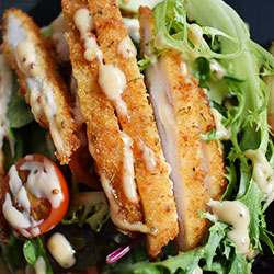 Crisp honey chicken salad thumbnail