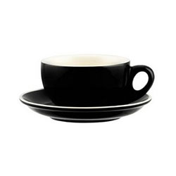 Cappuccino cup - black/white - Rockingham - 220ml thumbnail