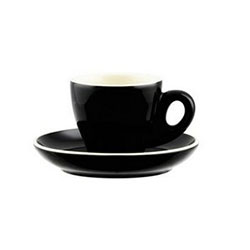 Espresso tulip cup - black/white - Rockingham thumbnail