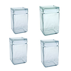 Glass square jar - stackable anchor thumbnail