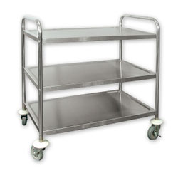 Trenton stainless steel serving trolley - 3 tier thumbnail