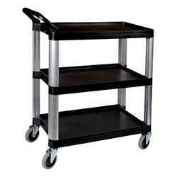 Utility trolley - 3 shelf - black thumbnail