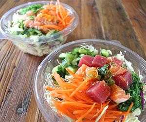 Salmon and tuna poke bowl thumbnail