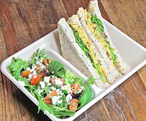 Sandwich and salad lunch box thumbnail