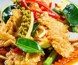 Pad cha fish stir fry thumbnail