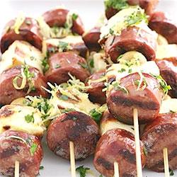 Chorizo and haloumi skewer thumbnail