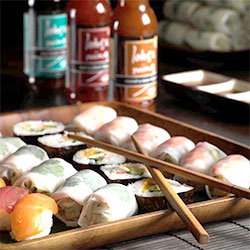 Sushi and nori rolls thumbnail