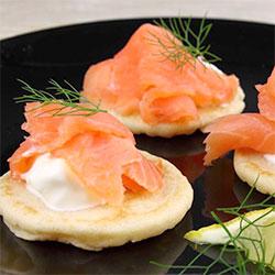 Blini with smoked salmon thumbnail