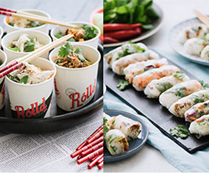 Baby rice paper rolls and baby bowls - serves up to 8 thumbnail