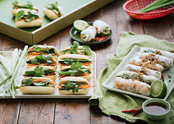 Standard rice paper rolls and mini baguettes - serves up to 8 thumbnail