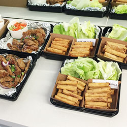 Spring roll and chicken ribs platter  thumbnail