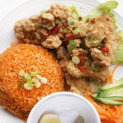 Crispy chicken ribs rice thumbnail