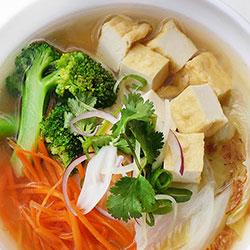 Vegetarian noodle soup thumbnail