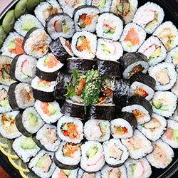 60 Assorted sushi rolls - serves 6 to 8 thumbnail