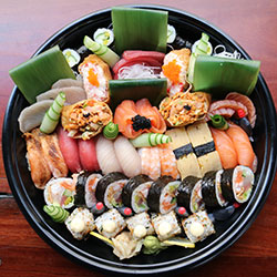 Sushi and sashimi large platter - serves 7 to 8 thumbnail