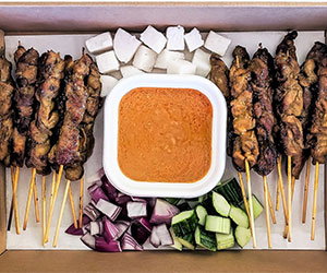 Chicken satay skewer thumbnail