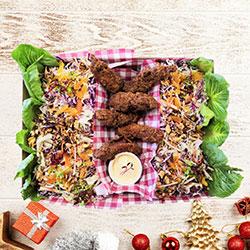Christmas crispy chicken slaw collection thumbnail