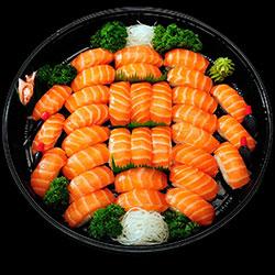 Salmon nigiri sushi platter - serves 5 to 6 thumbnail