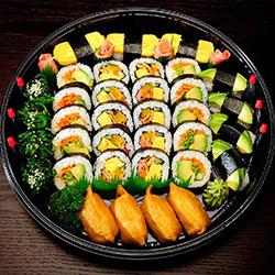 Vegetarian sushi platter - serves 6 thumbnail