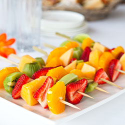 Fresh fruit skewer - mini thumbnail